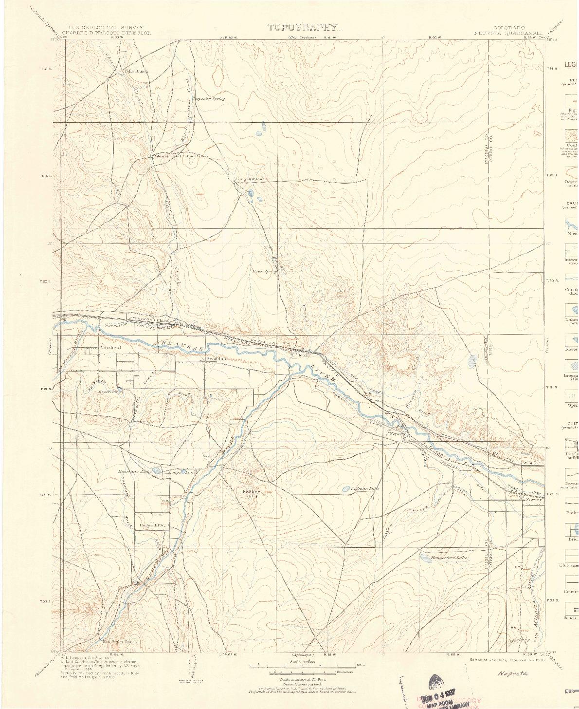 USGS 1:125000-SCALE QUADRANGLE FOR NEPESTA, CO 1904