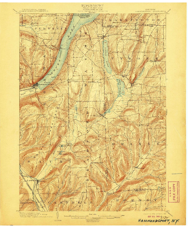 USGS 1:62500-SCALE QUADRANGLE FOR HAMMONDSPORT, NY 1903