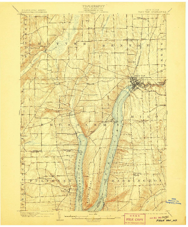 USGS 1:62500-SCALE QUADRANGLE FOR PENN YAN, NY 1903