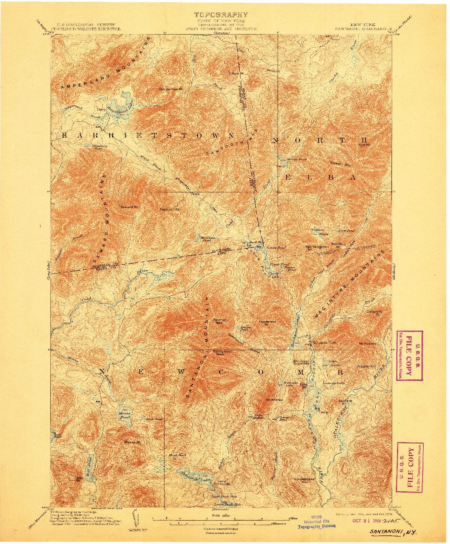 USGS 1:62500-SCALE QUADRANGLE FOR SANTANONI, NY 1904