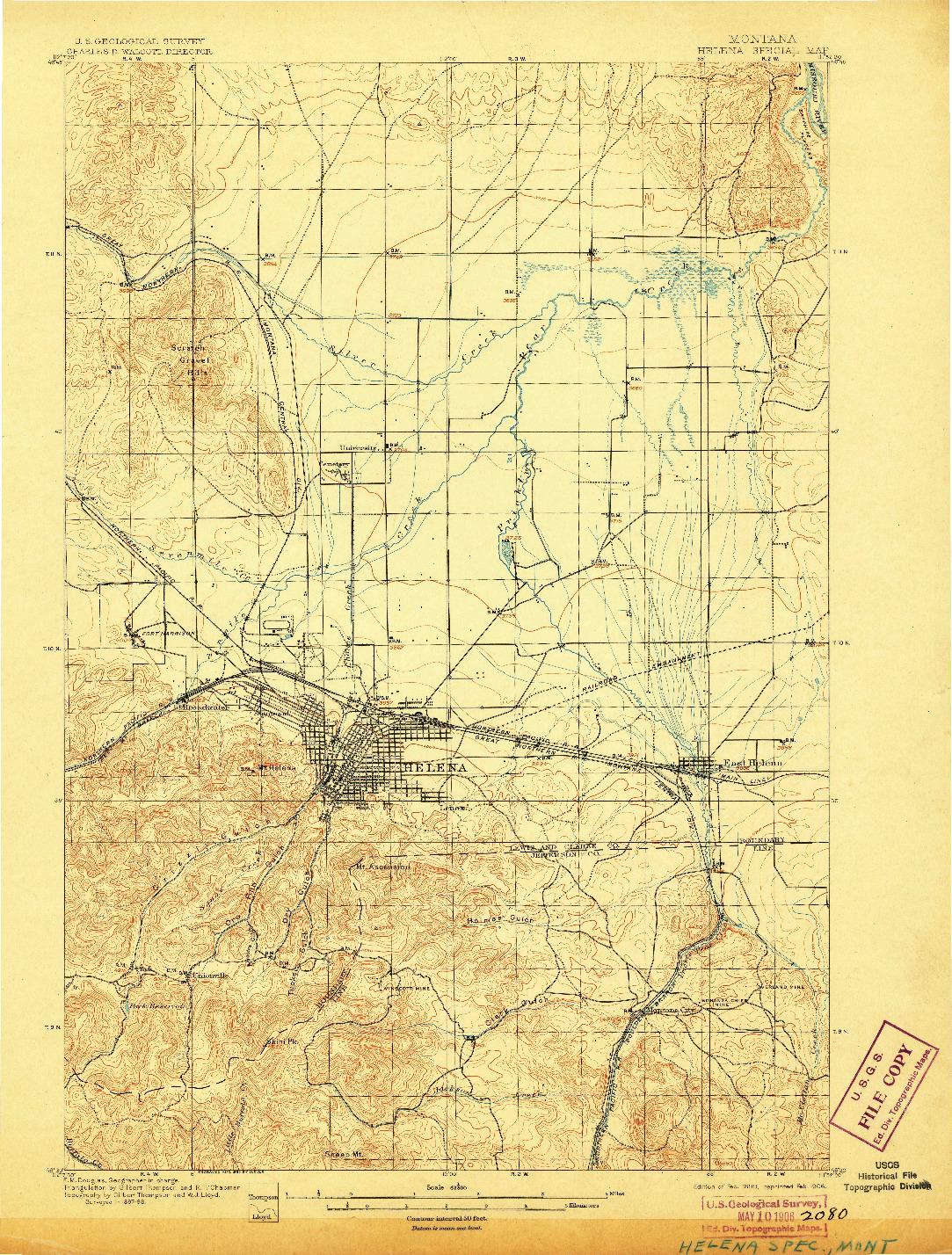 USGS 1:62500-SCALE QUADRANGLE FOR HELENA SPECIAL, MT 1899