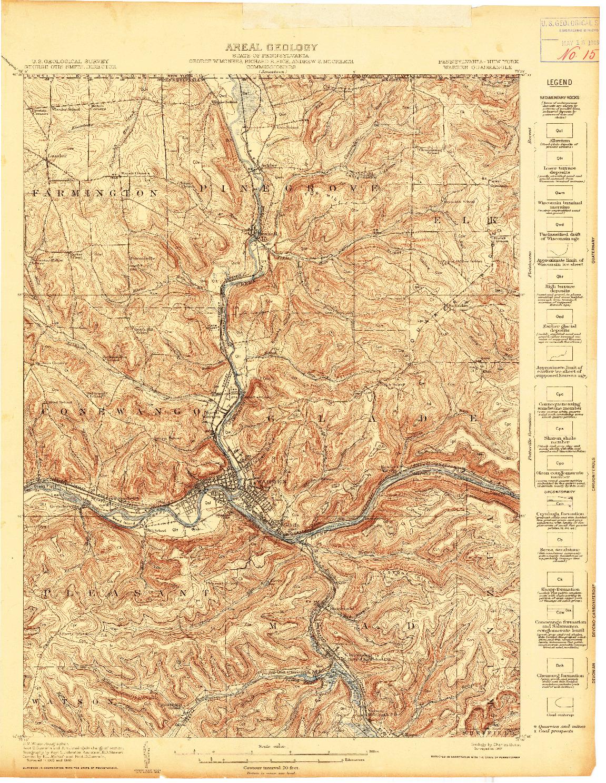 USGS 1:62500-SCALE QUADRANGLE FOR WARREN, PA 1907