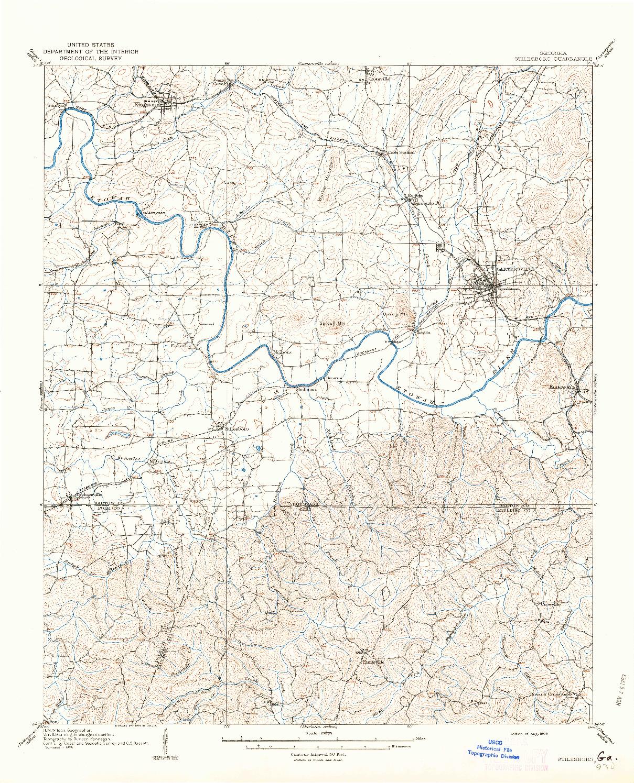 USGS 1:62500-SCALE QUADRANGLE FOR STILESBORO, GA 1908