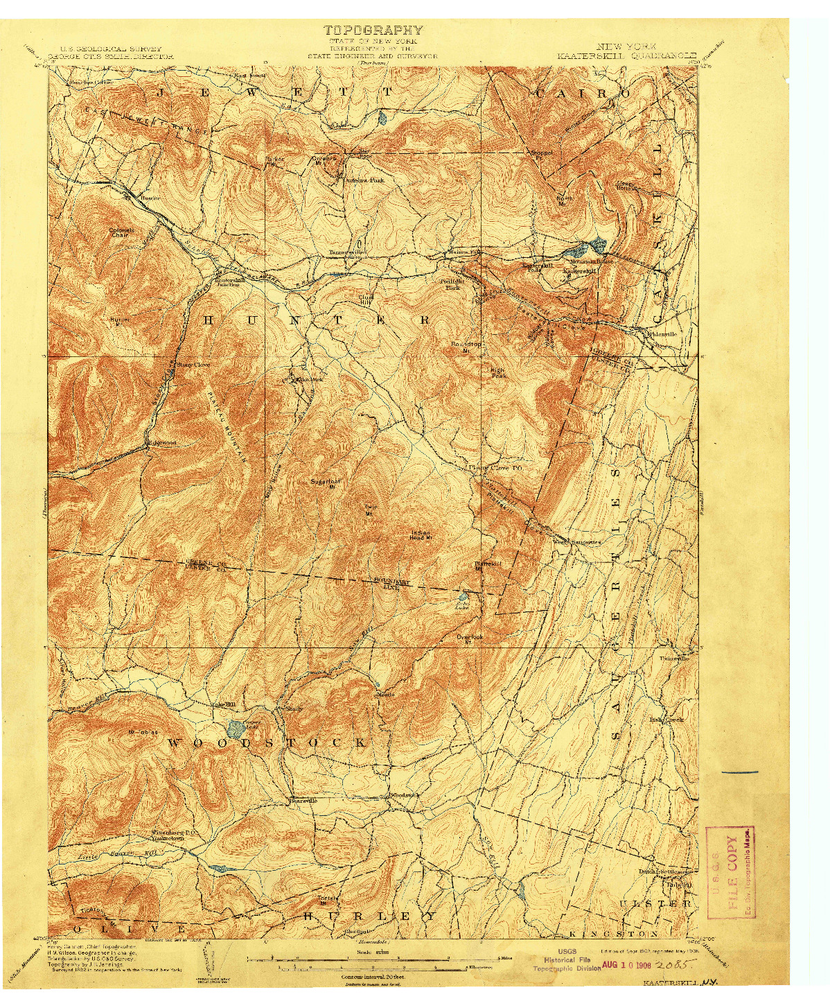 USGS 1:62500-SCALE QUADRANGLE FOR KAATERSKILL, NY 1903