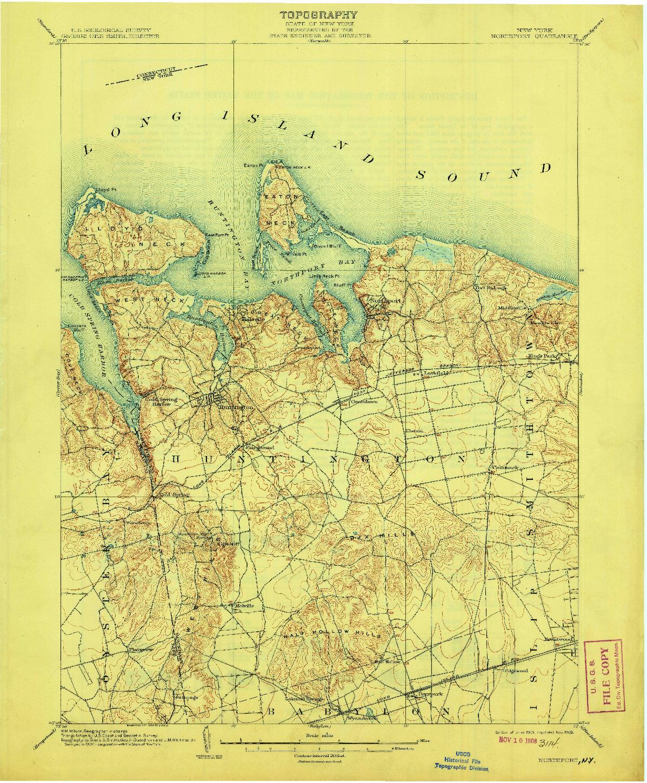 USGS 1:62500-SCALE QUADRANGLE FOR NORTHPORT, NY 1903