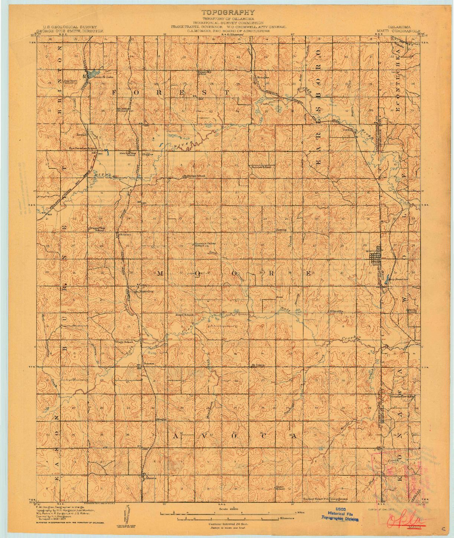 USGS 1:62500-SCALE QUADRANGLE FOR MAUD, OK 1908