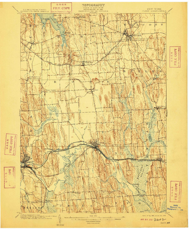 USGS 1:62500-SCALE QUADRANGLE FOR CLYDE, NY 1902