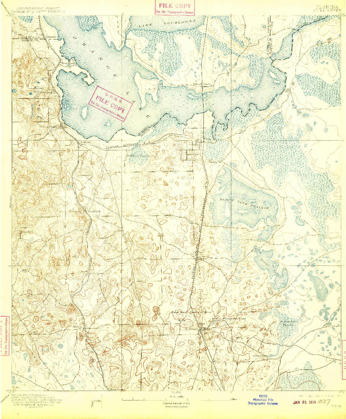 USGS 1:62500-SCALE QUADRANGLE FOR CITRA, FL 1895