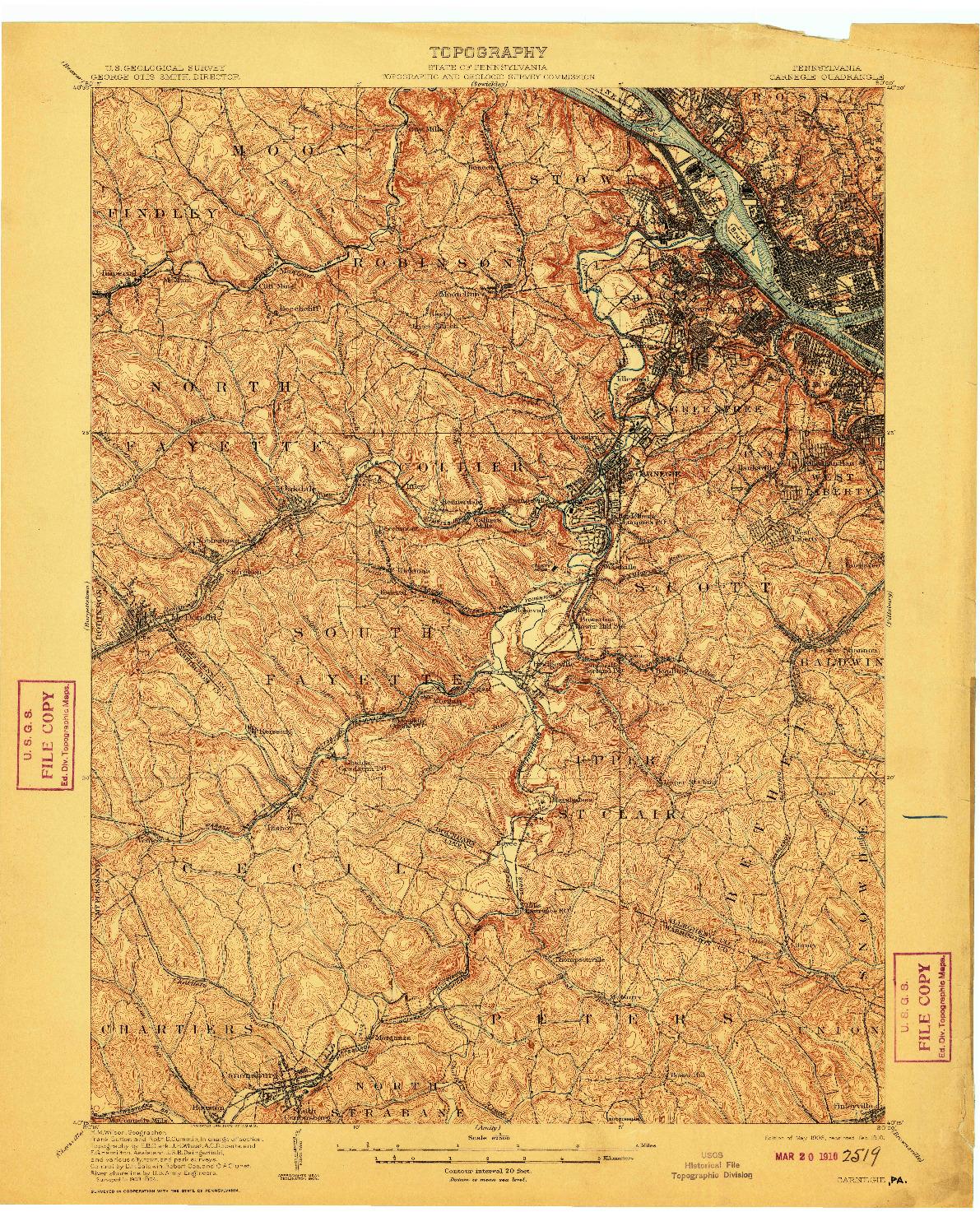 USGS 1:62500-SCALE QUADRANGLE FOR CARNEGIE, PA 1908