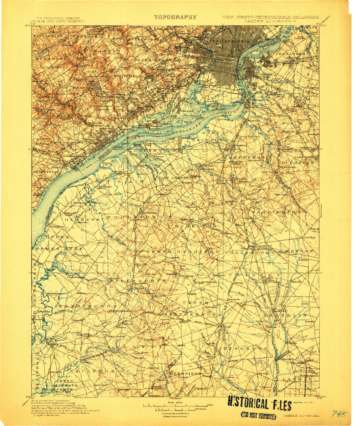 USGS 1:125000-SCALE QUADRANGLE FOR CAMDEN, NJ 1901