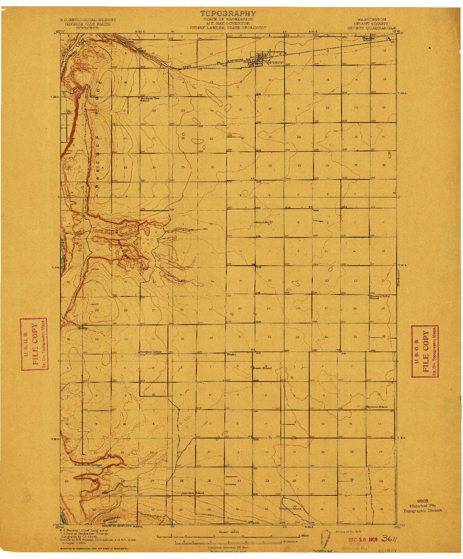 USGS 1:62500-SCALE QUADRANGLE FOR QUINCY, WA 1910