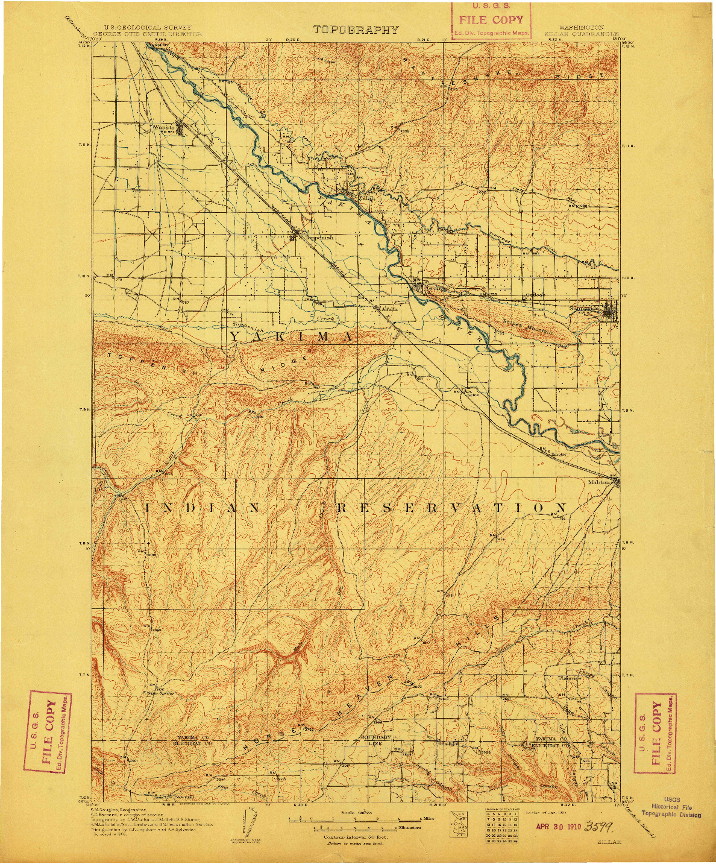 USGS 1:125000-SCALE QUADRANGLE FOR ZILLAH, WA 1910