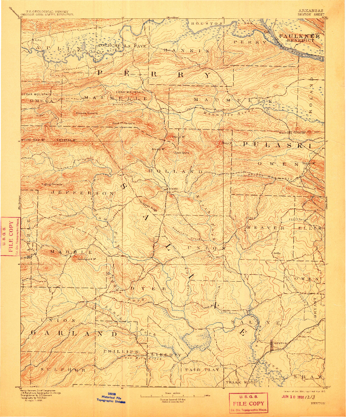 USGS 1:125000-SCALE QUADRANGLE FOR BENTON, AR 1894
