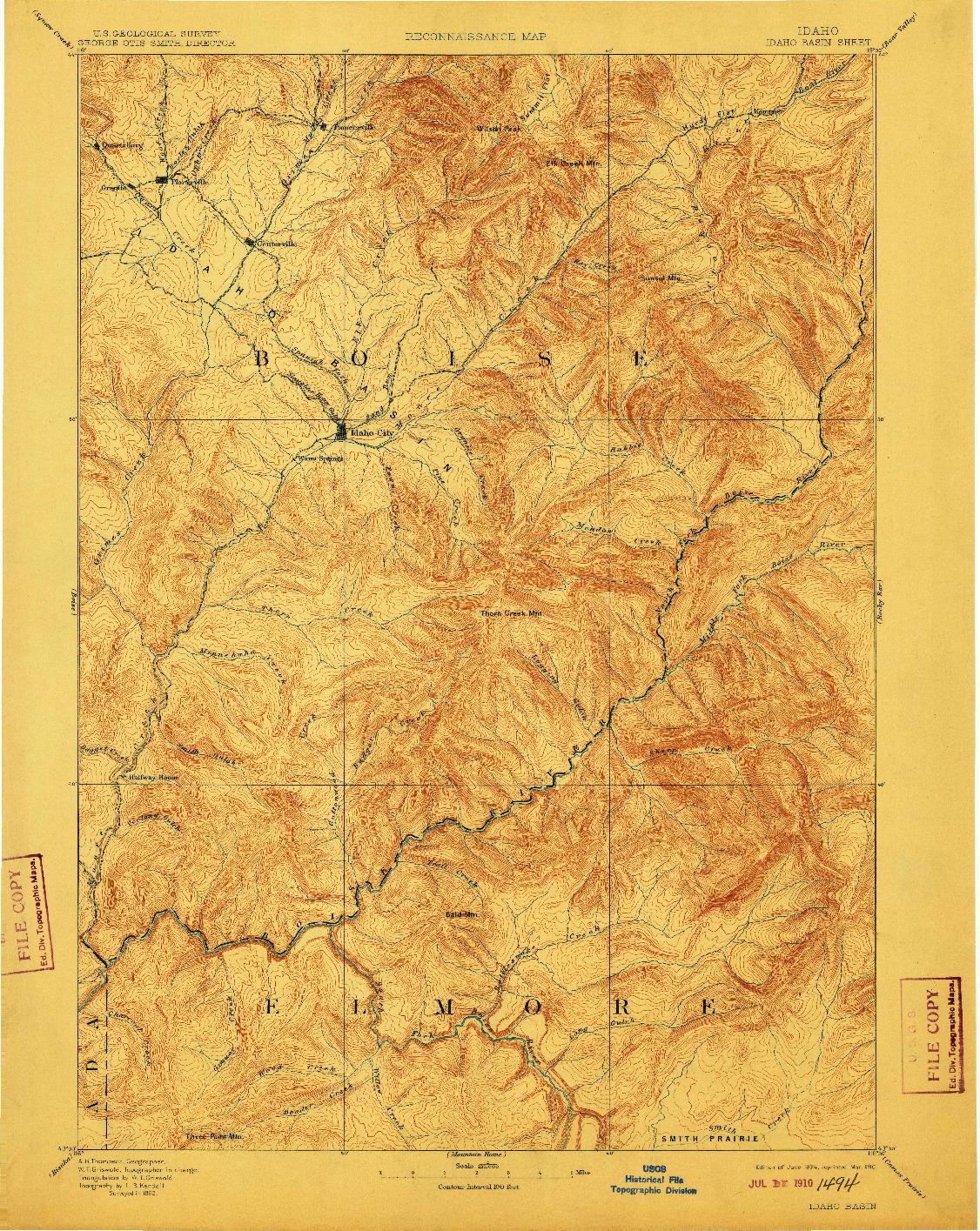 USGS 1:125000-SCALE QUADRANGLE FOR IDAHO BASIN, ID 1894