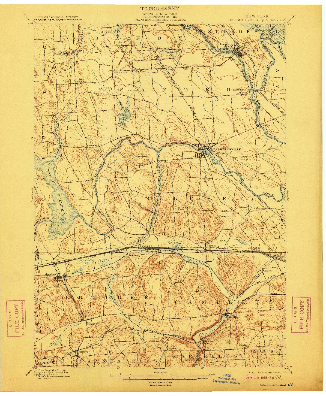 USGS 1:62500-SCALE QUADRANGLE FOR BALDWINSVILLE, NY 1900