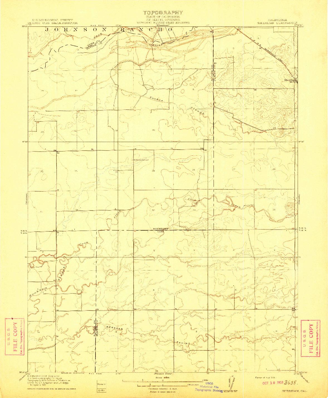 USGS 1:31680-SCALE QUADRANGLE FOR SHERIDAN, CA 1910