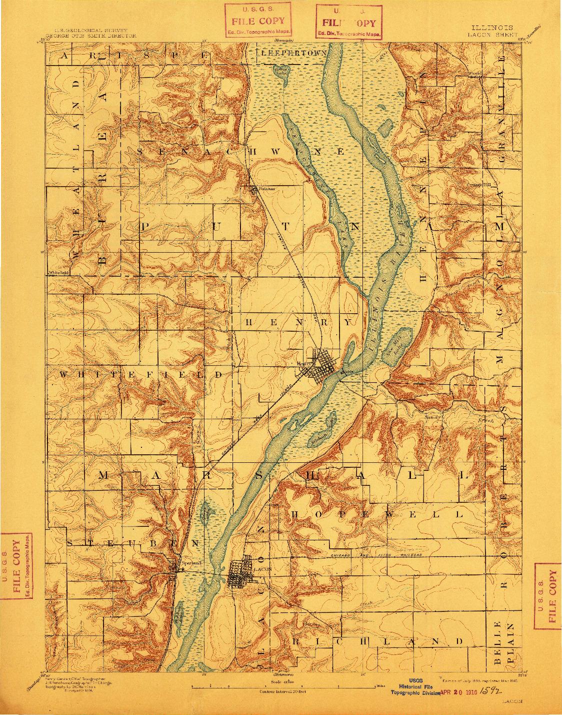 USGS 1:62500-SCALE QUADRANGLE FOR LACON, IL 1893