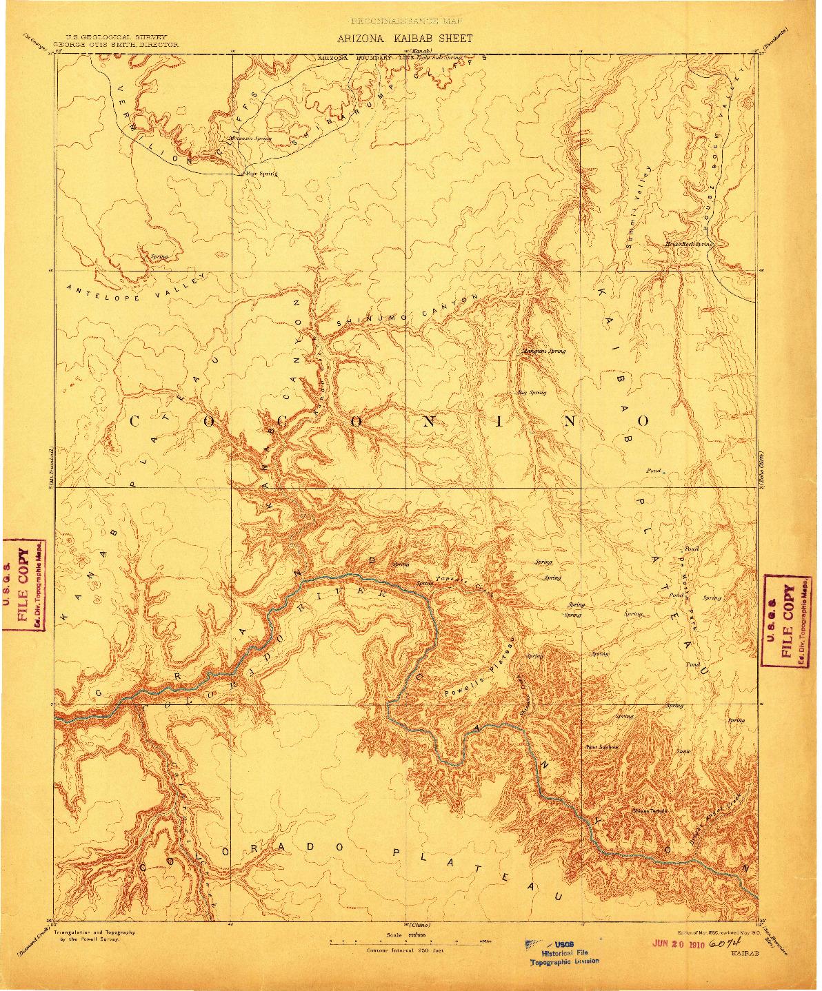 USGS 1:250000-SCALE QUADRANGLE FOR KAIBAB, AZ 1886