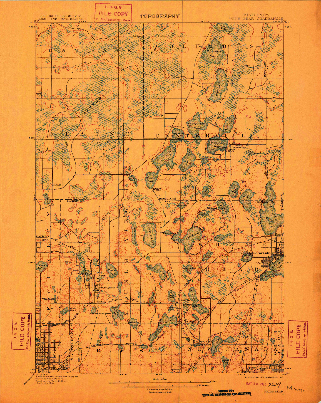 USGS 1:62500-SCALE QUADRANGLE FOR WHITE BEAR, MN 1902