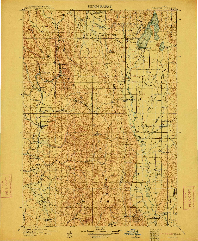 USGS 1:125000-SCALE QUADRANGLE FOR MEADOWS, ID 1911