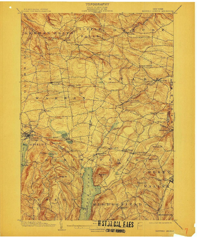 USGS 1:62500-SCALE QUADRANGLE FOR RICHFIELD SPRINGS, NY 1903