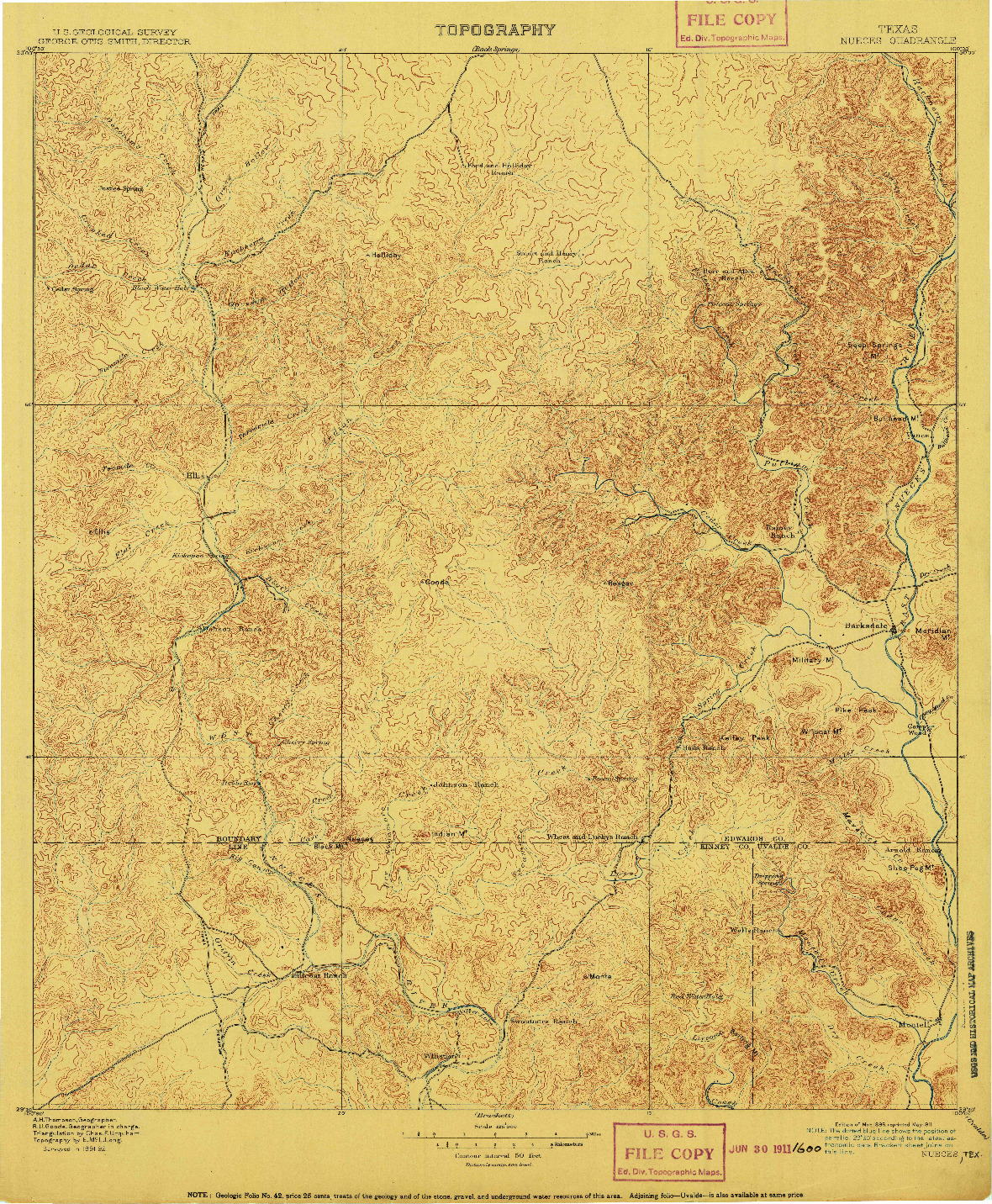 USGS 1:125000-SCALE QUADRANGLE FOR NUECES, TX 1896