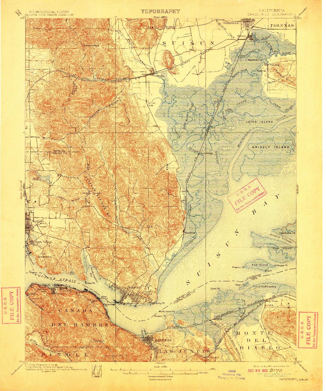USGS 1:62500-SCALE QUADRANGLE FOR CARQUINEZ, CA 1901