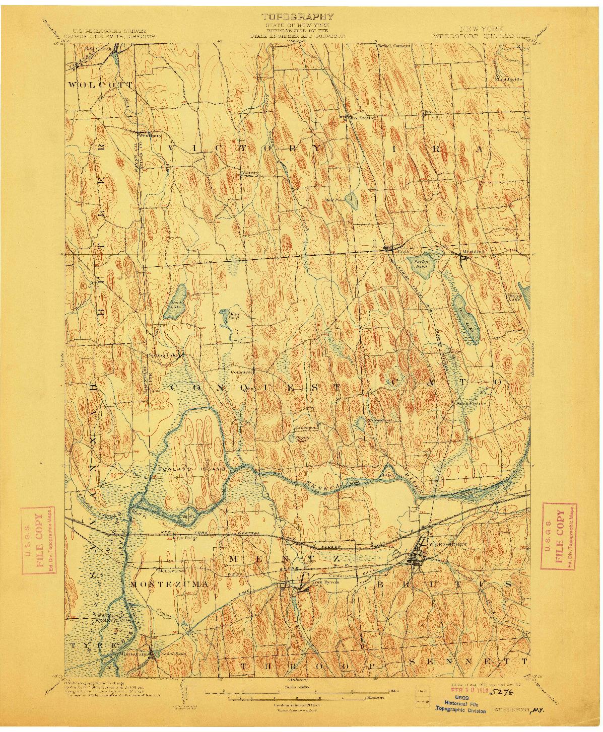 USGS 1:62500-SCALE QUADRANGLE FOR WEEDSPORT, NY 1902