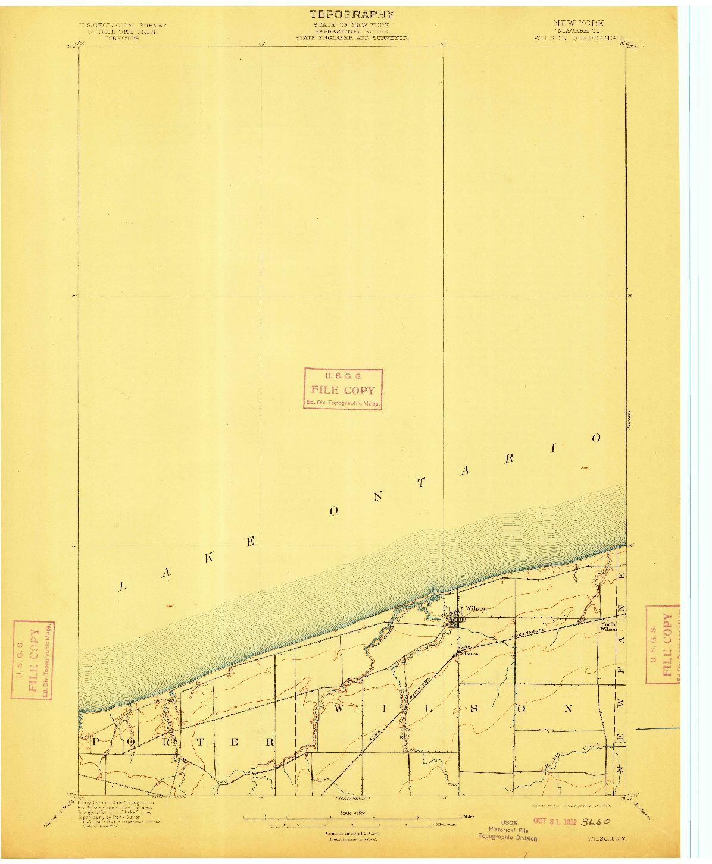 USGS 1:62500-SCALE QUADRANGLE FOR WILSON, NY 1900