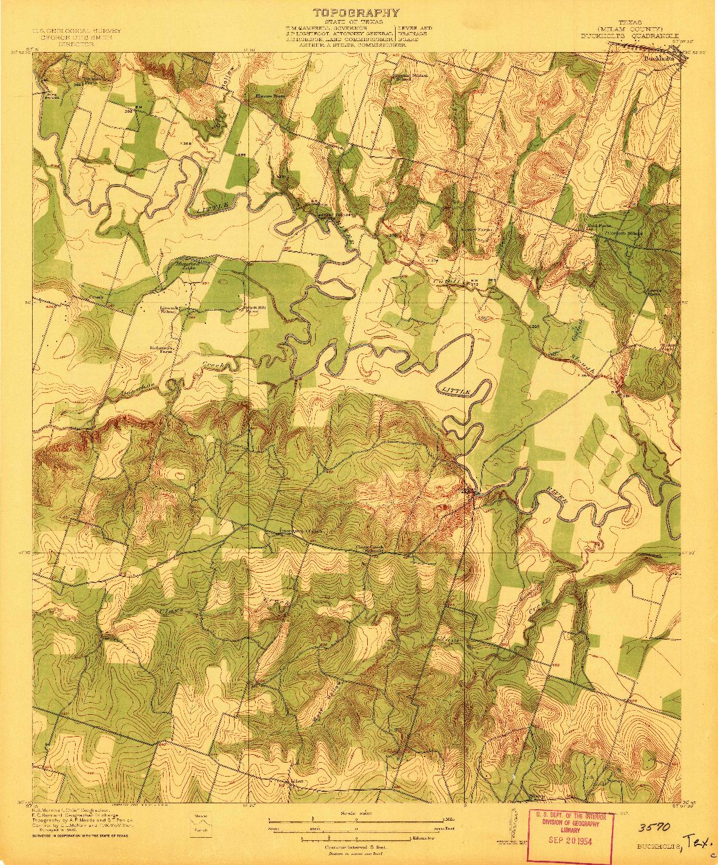 USGS 1:31680-SCALE QUADRANGLE FOR BUCKHOLTS, TX 1912
