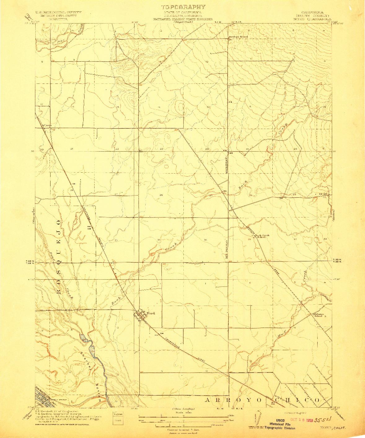 USGS 1:31680-SCALE QUADRANGLE FOR NORD, CA 1912
