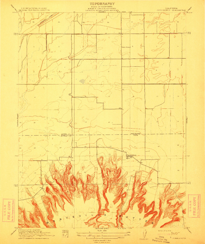USGS 1:31680-SCALE QUADRANGLE FOR PENNINGTON, CA 1912