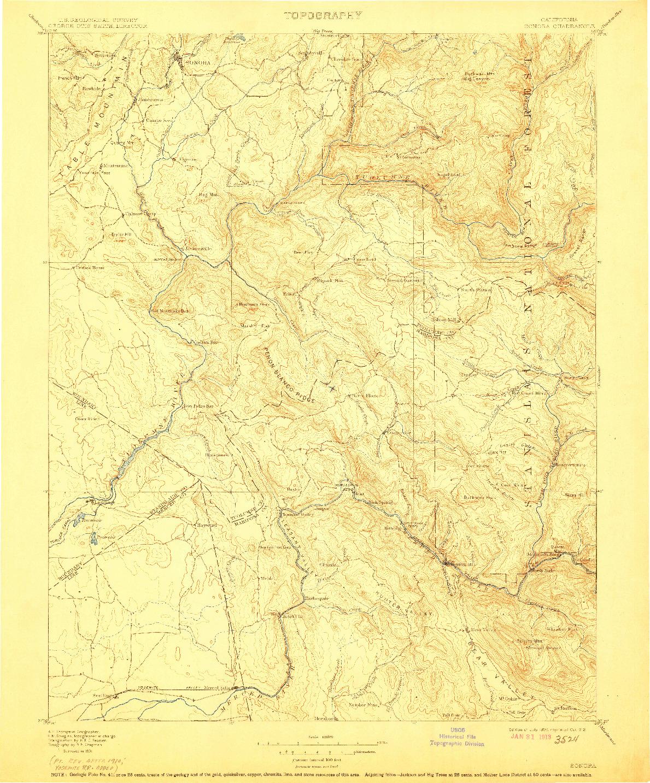 USGS 1:125000-SCALE QUADRANGLE FOR SONORA, CA 1897