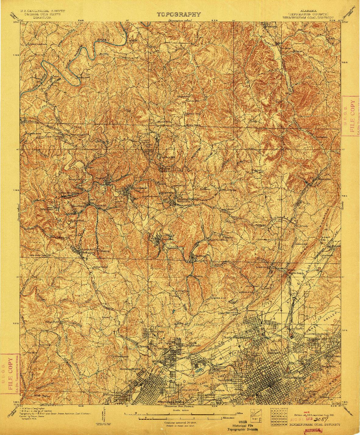 USGS 1:62500-SCALE QUADRANGLE FOR BIRMINGHAM COAL DISTRICT, AL 1906