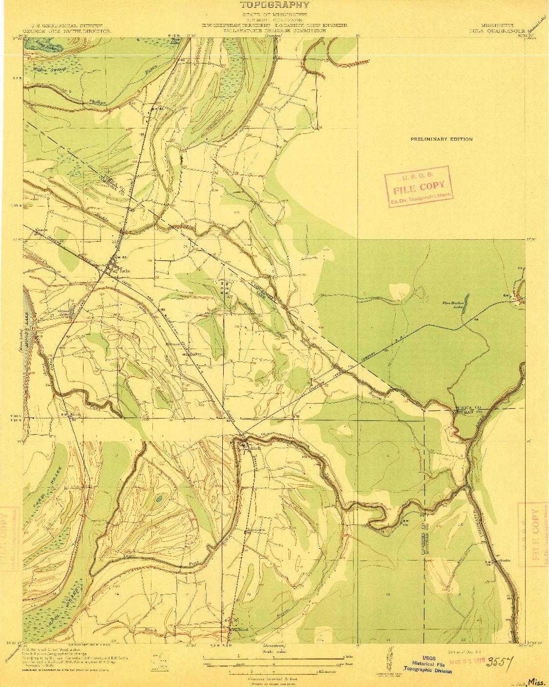 USGS 1:31680-SCALE QUADRANGLE FOR LULA, MS 1912