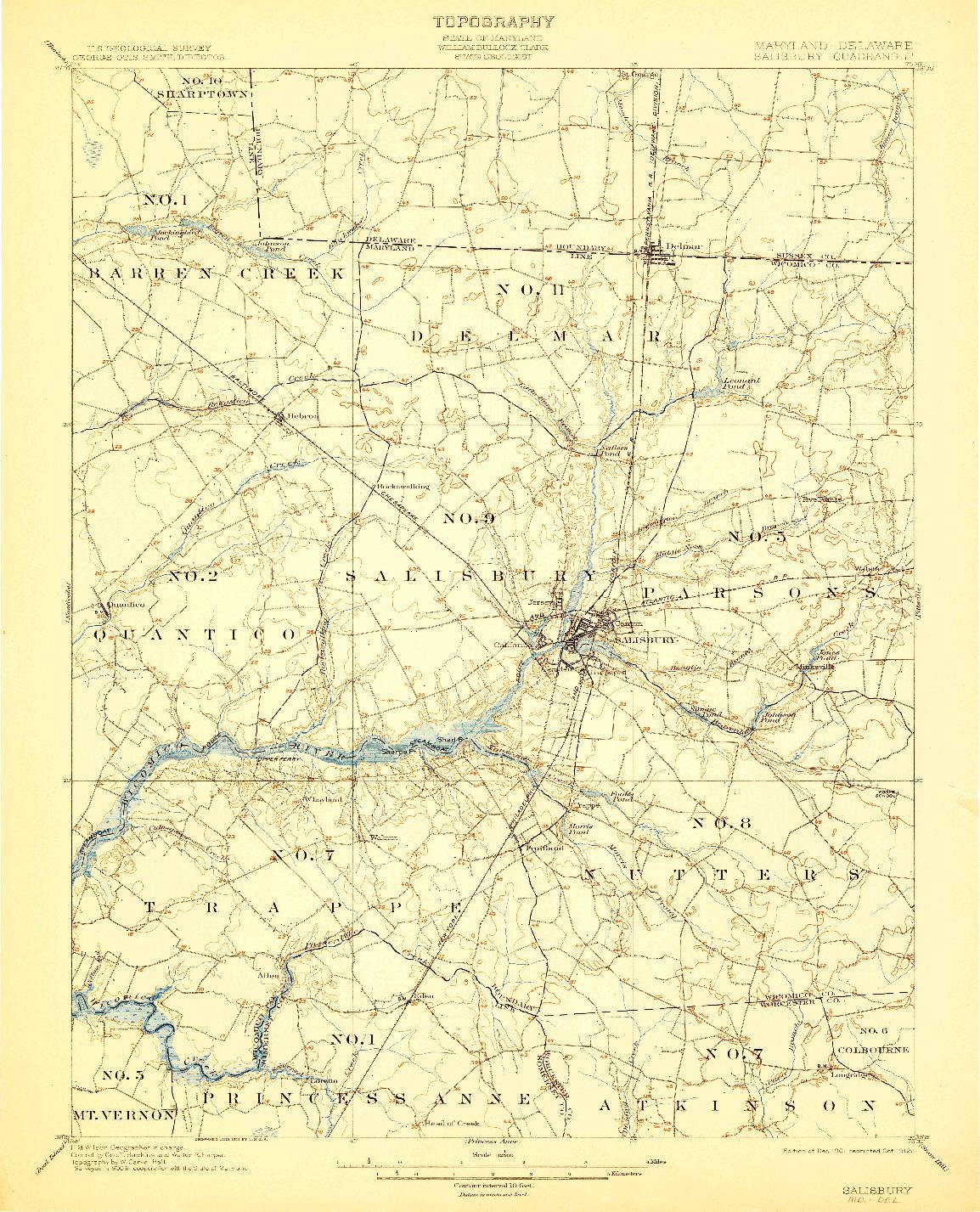 USGS 1:62500-SCALE QUADRANGLE FOR SALISBURY, MD 1901