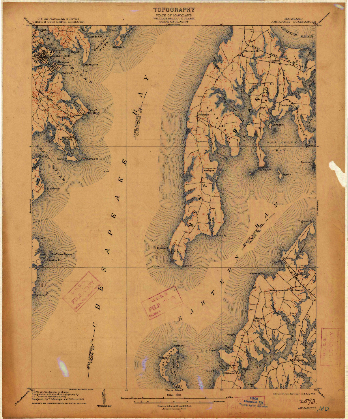 USGS 1:62500-SCALE QUADRANGLE FOR ANNAPOLIS, MD 1904