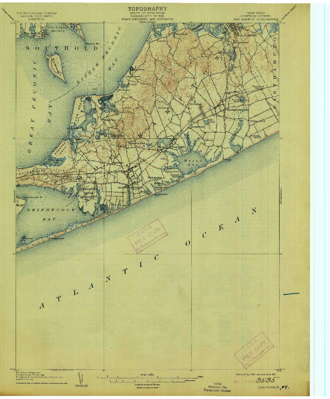 USGS 1:62500-SCALE QUADRANGLE FOR SAG HARBOR, NY 1904