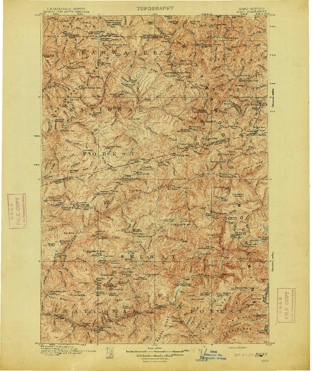 USGS 1:250000-SCALE QUADRANGLE FOR LOLO, ID 1913