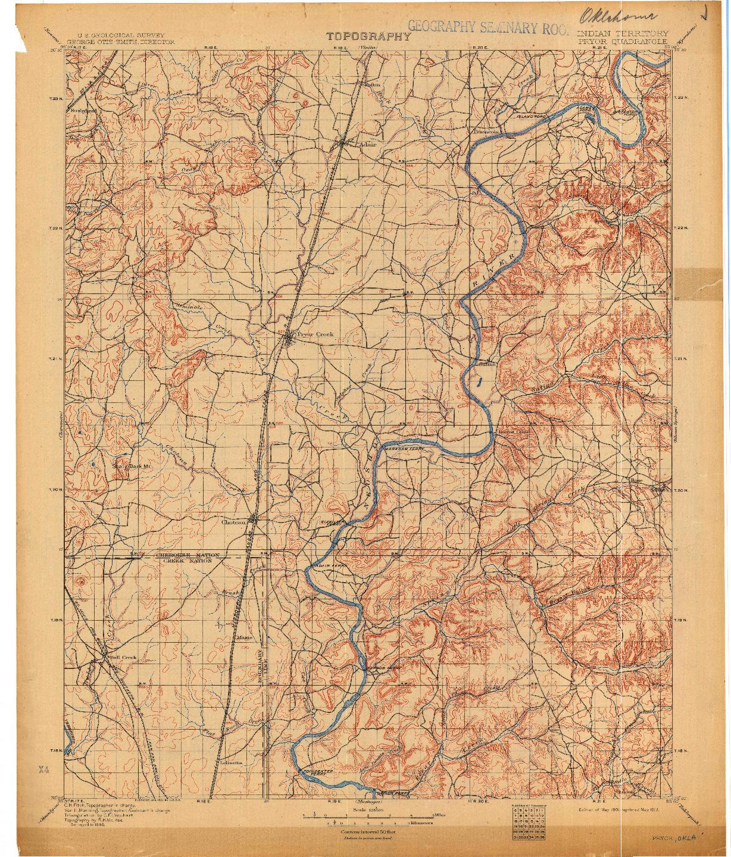 USGS 1:125000-SCALE QUADRANGLE FOR PRYOR, IT 1901