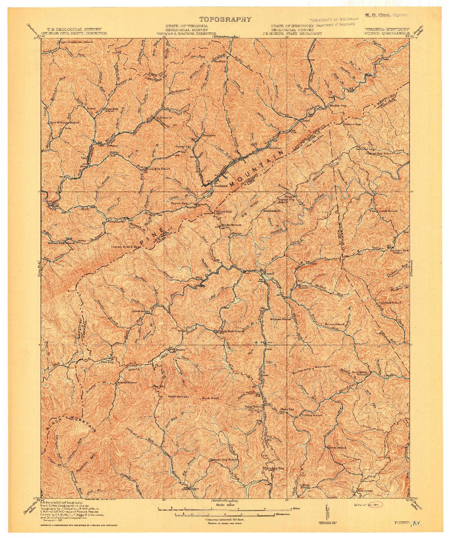 USGS 1:62500-SCALE QUADRANGLE FOR POUND, VA 1914