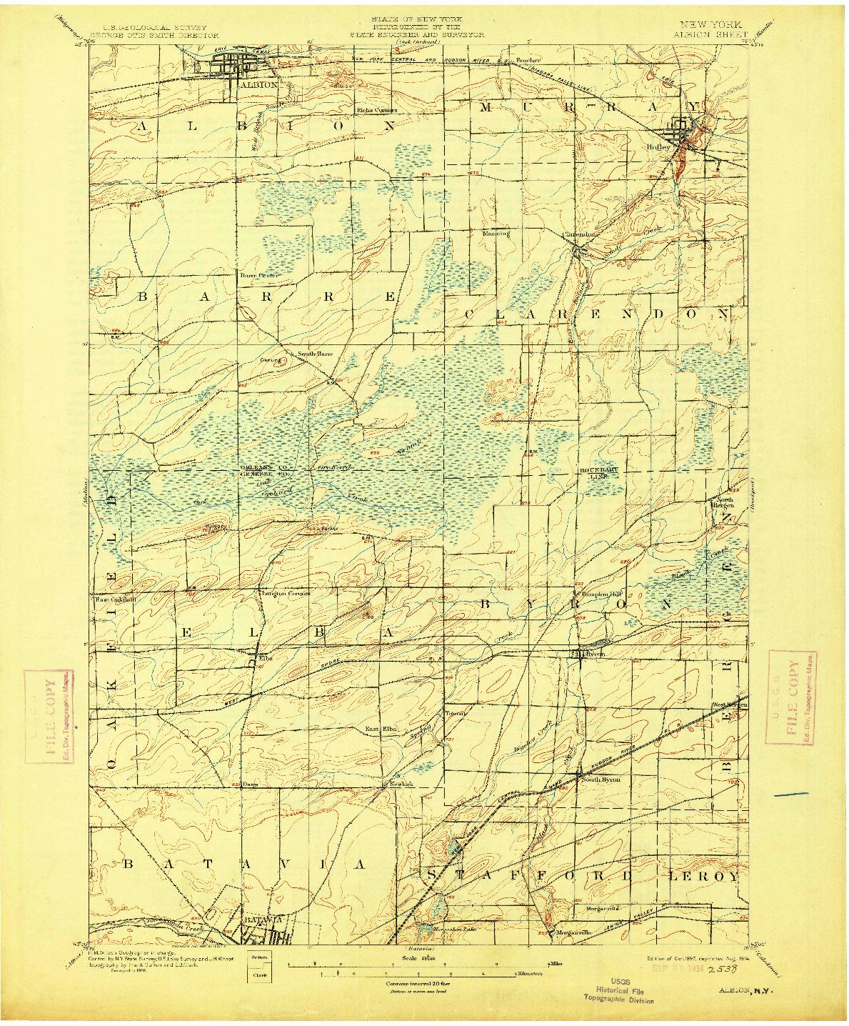 USGS 1:62500-SCALE QUADRANGLE FOR ALBION, NY 1897