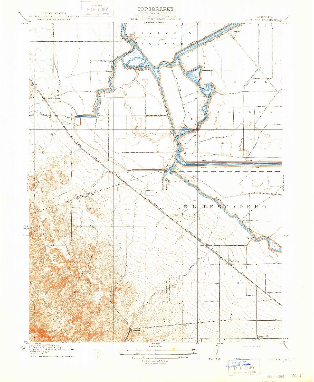 USGS 1:31680-SCALE QUADRANGLE FOR BETHANY, CA 1914