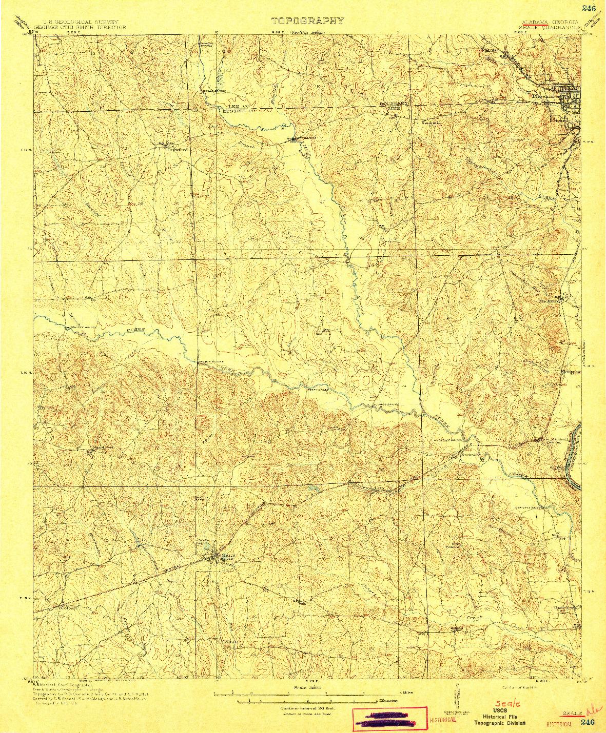 USGS 1:62500-SCALE QUADRANGLE FOR SEALE, AL 1914