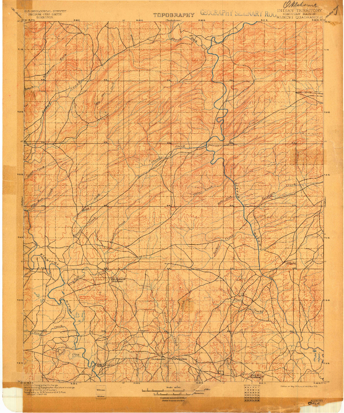 USGS 1:125000-SCALE QUADRANGLE FOR ALIKCHI, IT 1901