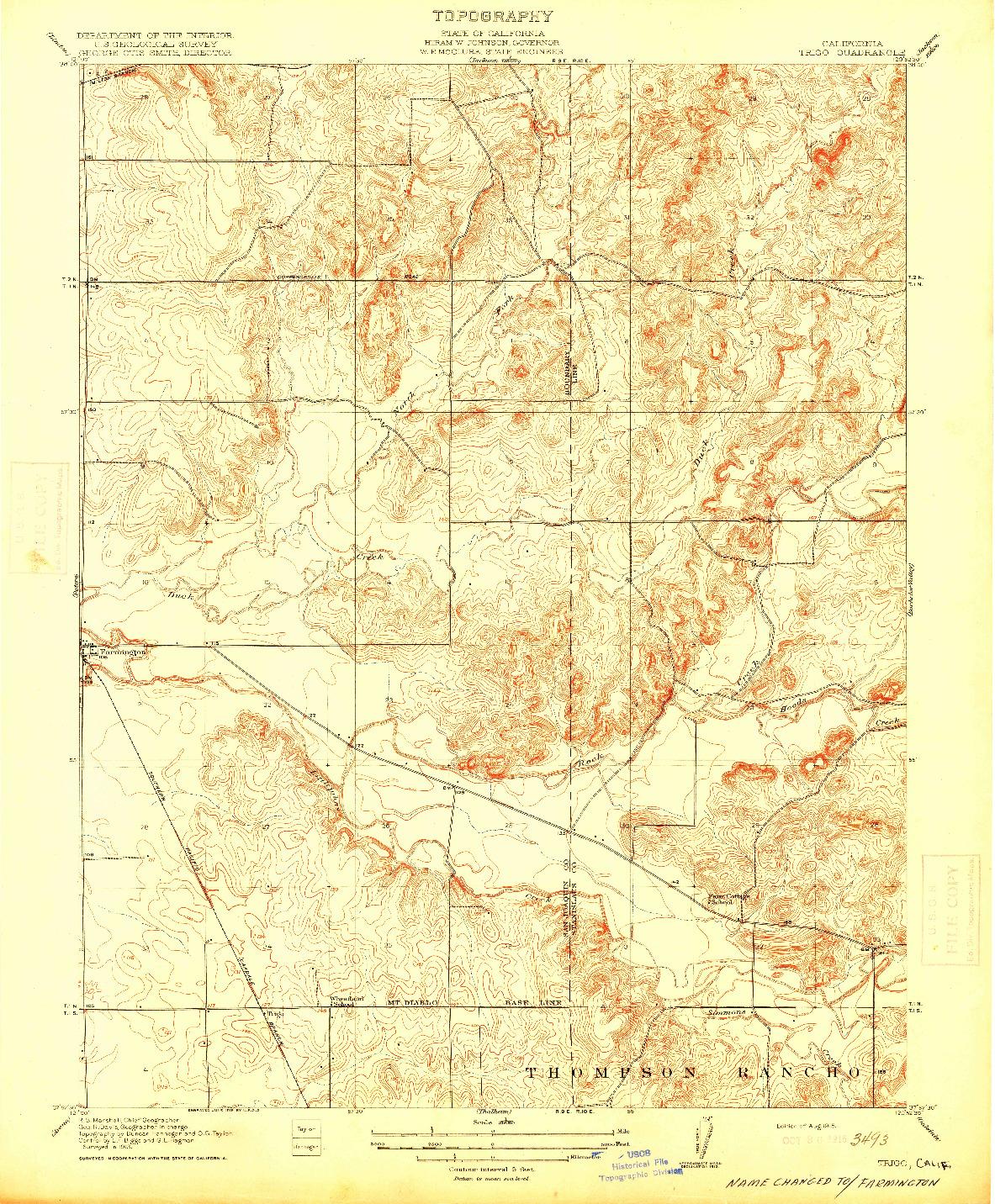 USGS 1:31680-SCALE QUADRANGLE FOR TRIGO, CA 1915