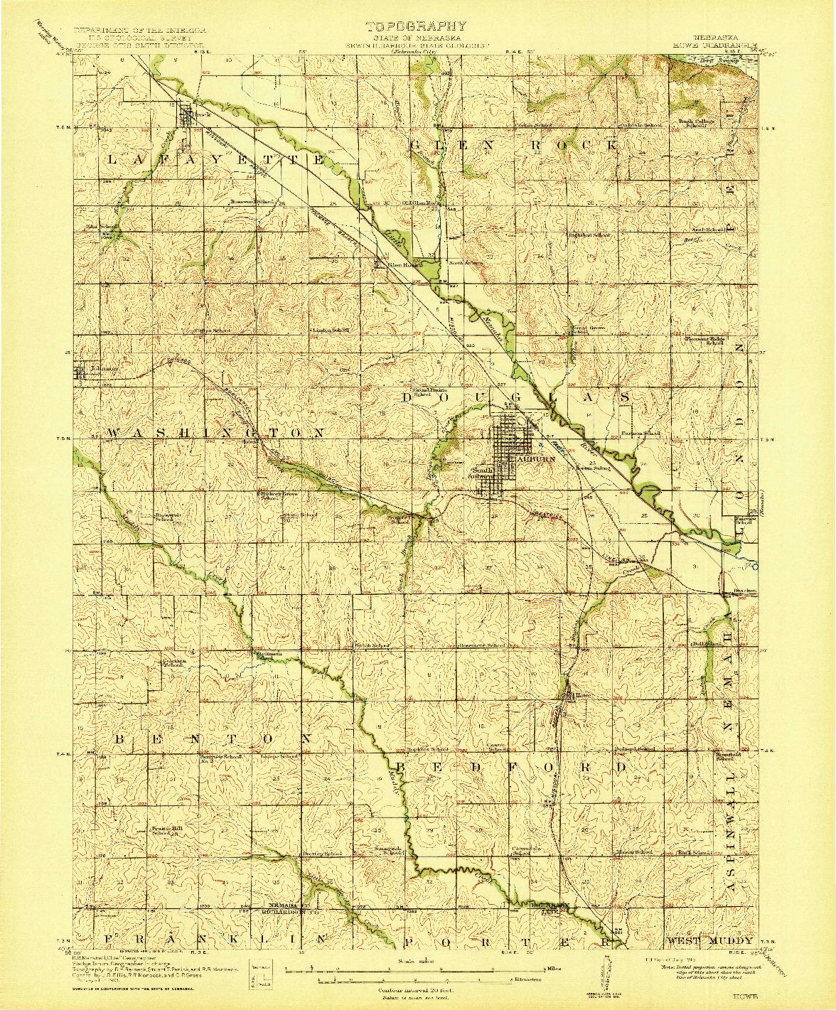 USGS 1:62500-SCALE QUADRANGLE FOR HOWE, NE 1915