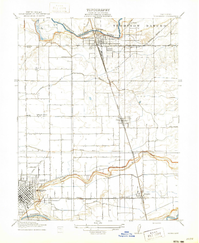 USGS 1:31680-SCALE QUADRANGLE FOR RIVERBANK, CA 1916