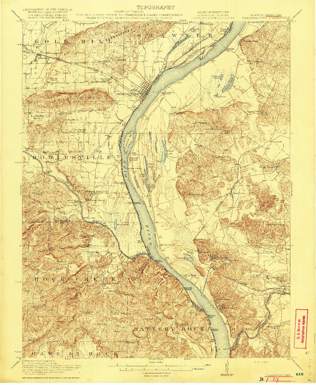 USGS 1:62500-SCALE QUADRANGLE FOR SHAWNEETOWN, IL 1916