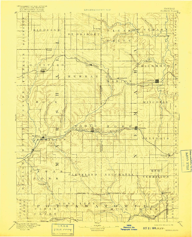 USGS 1:125000-SCALE QUADRANGLE FOR SENECA, KS 1894